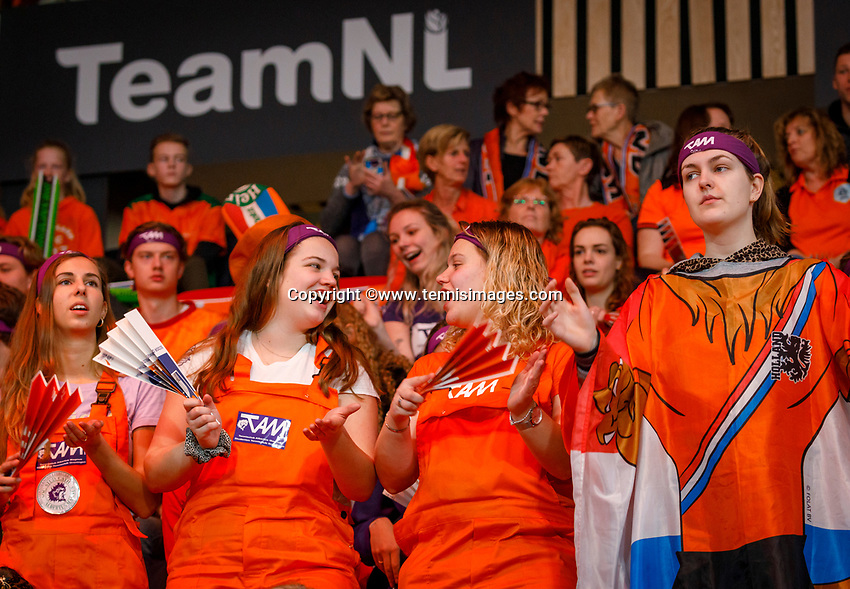 The Hague, The Netherlands, Februari 8, 2020,    Sportcampus, FedCup  Netherlands -  Balarus, Dutch supporters<br /> Photo: Tennisimages/Henk Koster