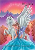 Interlitho, Lorella, FANTASY, paintings, unicorn, blue elf, KL, KL3848,#fantasy# illustrations, pinturas