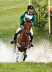 LEXINGTON, KY - APRIL 30: #66 Cecelia and Daniela Moguel compete in the Cross Country Test for the Rolex Kentucky 3-Day Event at the Kentucky Horse Park.  April 30, 2016 in Lexington, Kentucky. (Photo by Candice Chavez/Eclipse Sportswire/Getty Images)