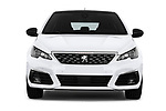 Car photography straight front view of a 2018 Peugeot 308 GT Line 5 Door Hatchback
