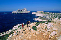 View of Maire Island and Cape Croisette from Callelongue, Marseille, France.