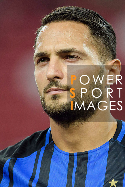 FC Internazionale Defender Danilo D'Ambrosio getting into the field during the International Champions Cup match between FC Bayern and FC Internazionale at National Stadium on July 27, 2017 in Singapore. Photo by Weixiang Lim / Power Sport Images