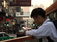 Hong-Kong, Chine, Asia, Asie. Yuen Long (??), formerly Un Long.