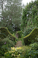 True to the spirit of William Morris's ideals, clipped hedges, usually of yew, create the effect of the inside of the house merging with the garden, in a series of structured but homely spaces, each 'room'  with its own character
