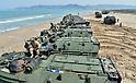 U.S. Marines soldiers at Dogu Beach in Pohang
