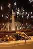 white luxury limousine in front of the christmas decorated fountain at the Plaza de la Reina with cathedral La Seu in background<br /> <br /> limousina blanca delante de la fuente decorada de navidad con la catedral La Seu en el fondo<br /> <br /> weiße Luxuslimousine vor dem weihnachtlich geschmückten Brunnen der Plaza de la Reina mit der Kathedrale La Seu im Hintergrund<br /> <br /> 3008 x 2000 px<br /> 150 dpi: 50,94 x 33,87 cm<br /> 300 dpi: 25,47 x 16,93 cm