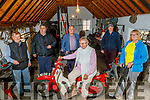 Members of the Spa/Fenit Community Council launch their Vintage Car, Tractor and Bike Run on Monday at the Forge in Churchill and it takes place on the 15th and 16th of August during National heritage Week.  <br /> Seated on the motorbike: Nora Landers. <br /> Back l to r: John Foley, Brendan Brosnan, Dermot Crowley,  Peter Carmody and Michelle Burke.