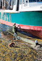 Boat painting, Port Clyde, Maine, USA