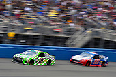 2017 Monster Energy NASCAR Cup Series<br /> Auto Club 400<br /> Auto Club Speedway, Fontana, CA USA<br /> Sunday 26 March 2017<br /> Kyle Busch, Interstate Batteries Toyota Camry and Joey Logano<br /> World Copyright: Nigel Kinrade/LAT Images<br /> ref: Digital Image 17FON1nk06332