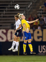 Nilla Fischer, Christie Rampone. The USWNT defeated Sweden, 3-0.