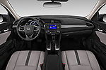 Stock photo of straight dashboard view of a 2019 Honda honda LX 4 Door Sedan