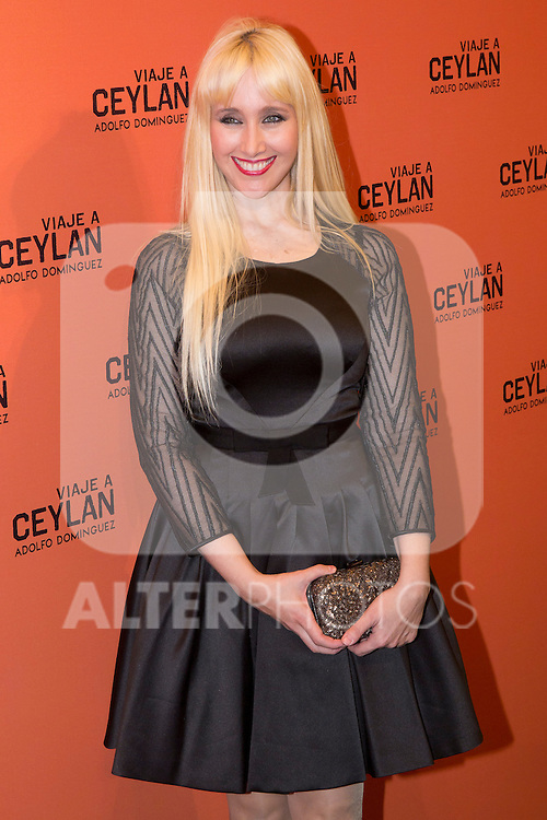 10.10.2012. Celebrities attend the presentation of the new fragrance by Adolfo Dominguez 'Travel Ceylan' in the Flagship Store of Adolfo Domínguez in Madrid, Spain. In the image Geraldine Larrosa, Innocence (Alterphotos/Marta Gonzalez)