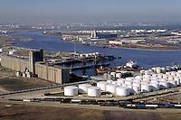 Petroleum industry ; oil ; Storage tanks ; ships ; port ; ship channel ;. Houston Texas.