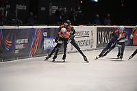 SPEEDSKATING: DORDRECHT: 06-03-2021, ISU World Short Track Speedskating Championships, SF 5000m Men, Daan Breeuwsma (NED), Sjinkie Knegt (NED), ©photo Martin de Jong