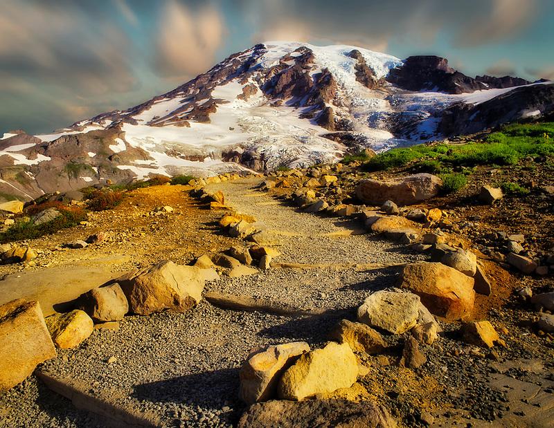 Trail to Mount Rainier. Washington.