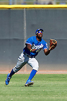 Kansas City Royals minor league outfielder Jerrell Allen #61 during an instructional league game against the Seattle Mariners at the Peoria Sports Complex on October 2, 2012 in Peoria, Arizona. (Mike Janes/Four Seam Images)