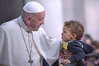 Pope Francis during of a weekly general audience at St Peter's square in Vatican, Wednesday, October. 17, 2018.