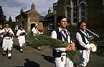 Rush bearing Ceremony Whitchurch Morris Dancers Wingrave Buckinghamshire. 1990s