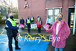 Residents of St Brendan's Terrace, Ardfert who donated €400 from their fundraising Terrace bingo's during lockdown and the money will be going to needy families in Kerry and for Adapt. Pictured are Garda Mary Gardiner, Marian Fitzgerald, Eilish Cronin, Brian English, Chloe Foudy, Mary O'Halloran, Margaret Murphy and Breda Duggan.