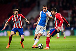 Gabriel Appelt Pires (R) of CD Leganes battles for the ball with Saul Niguez Esclapez (L) and Jose Maria Gimenez de Vargas of Atletico de Madrid during the La Liga 2017-18 match between Atletico de Madrid and CD Leganes at Wanda Metropolitano on February 28 2018 in Madrid, Spain. Photo by Diego Souto / Power Sport Images