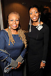 Vanessa Bell Armstrong and Dr. Sharon Joubert-Gibson at a gala celebrating 50 years of ministry for Bishop I.V. Hilliard at the New Light Christian Church August 31,2012.(Dave Rossman/For the Chronicle)