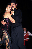 Buenos Aires, Argentina. Couple dancing the Tango, in a dramatic sensual position and close embrace.