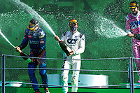 6th September 2020; Autodromo Nazionale Monza, Monza, Italy ; Formula 1 Grand Prix of Italy, Race Day;  55 CarlSainz ESP, McLaren F1 Team, 10 Pierre Gasly FRA, Scuderia AlphaTauri Honda, 18 Lance Stroll CAN, BWT Racing Point F1 Team  on the podium