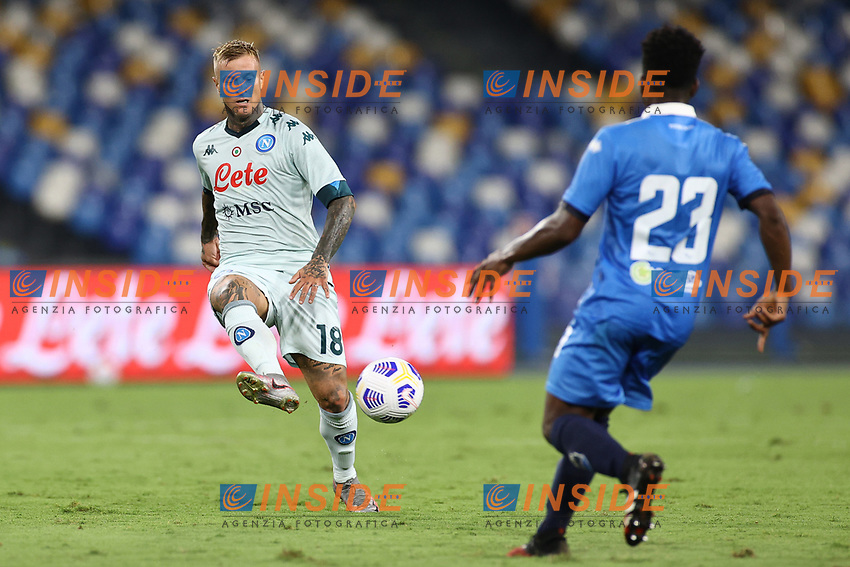 Amato Ciceretti of SSC Napoli<br /> during the friendly football match between SSC Napoli and Pescara Calcio 1936 at stadio San Paolo in Napoli, Italy, September 11, 2020. <br /> Photo Cesare Purini / Insidefoto