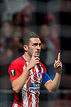 Jorge Resurreccion Merodio, Koke, of Atletico de Madrid celebrates during the UEFA Europa League 2017-18 Round of 16 (1st leg) match between Atletico de Madrid and FC Lokomotiv Moscow at Wanda Metropolitano  on March 08 2018 in Madrid, Spain. Photo by Diego Souto / Power Sport Images
