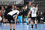Shake Hands zwischen Finn Lemke (GER) und Dener Jaanimaa (EST) bei der Euro-Qualifikation im Handball, Deutschland - Estland.<br /> <br /> Foto © PIX-Sportfotos *** Foto ist honorarpflichtig! *** Auf Anfrage in hoeherer Qualitaet/Aufloesung. Belegexemplar erbeten. Veroeffentlichung ausschliesslich fuer journalistisch-publizistische Zwecke. For editorial use only.
