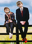 .Sky 1 HD's Moone Boy Launch..David Rawle and Chris O'Dowd, pictured before the special premiere screening of Chris's comedy MOONE BOY in Lough Key Forest Park, Boyle, Co. Roscommon.