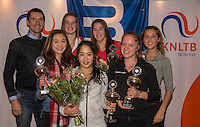Hilversum, Netherlands, December 4, 2016, Winter Youth Circuit Masters, All prizewinners girls 16 years<br /> Photo: Tennisimages/Henk Koster