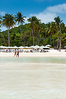 People Walk By On Bai Sao Beach, Phu Quoc, Vietnam