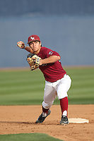 Joe Murray (11) of the Loyola Marymount Lions throws before a game against the TCU Horned Frogs at Page Stadium on March 16, 2015 in Los Angeles, California. TCU defeated Loyola, 6-2. (Larry Goren/Four Seam Images)