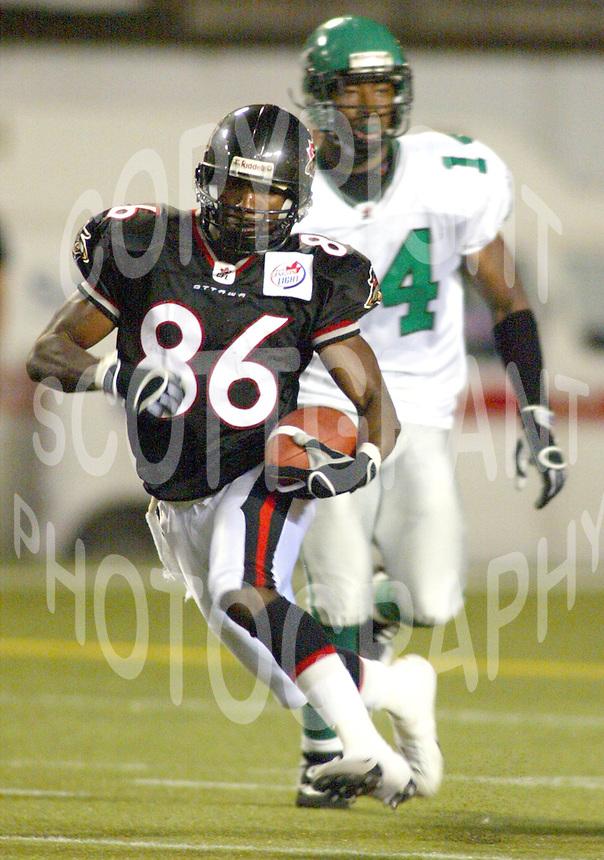Demetris Bendross Ottawa Renegades 2003. Photo Scott Grant