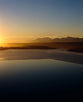 The infinity pool looks out over spectacular views of the Swartvlei estuary