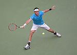 Leonardo Mayer (ARG) loses to Roger Federer (SUI) 6-1, 6-2, 6-2 at the US Open in Flushing, NY on September 1, 2015.