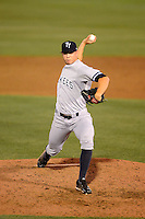 Tampa Yankees pitcher Zach Arneson #50 during a game against the Dunedin Blue Jays on April 11, 2013 at Florida Auto Exchange Stadium in Dunedin, Florida.  Dunedin defeated Tampa 3-2 in 11 innings.  (Mike Janes/Four Seam Images)