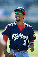 Reading Fightin Phils shortstop J.P. Crawford (2) before a game against the Bowie Baysox on July 22, 2015 at Prince George's Stadium in Bowie, Maryland.  Bowie defeated Reading 6-4.  (Mike Janes/Four Seam Images)
