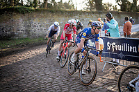 Mark Cavendish (GBR/Deceuninck - Quick Step) being badass over the cobbles<br /> <br /> 53rd Le Samyn 2021<br /> ME (1.1)<br /> 1 day race from Quaregnon to Dour (BEL/205km)<br /> <br /> ©kramon