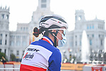 French Champion Audrey Cordon-Ragot (FRA) Trek-Segafredo at sign on before the start of Stage 3 of the CERATIZIT Challenge by La Vuelta 2020, running 98.6km around the streets of Madrid, Spain. 8th November 2020.<br /> Picture: Antonio Baixauli López/BaixauliStudio | Cyclefile<br /> <br /> All photos usage must carry mandatory copyright credit (© Cyclefile | Antonio Baixauli López/BaixauliStudio)