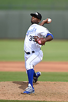Peoria Javelinas pitcher Ali Williams (35) during an Arizona Fall League game against the Mesa Solar Sox on October 15, 2014 at Surprise Stadium in Surprise, Arizona.  Mesa defeated Peoria 5-2.  (Mike Janes/Four Seam Images)