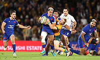 17th July 2021; Brisbane, Australia;  French centre Arthur Vincent in action  during the Australia versus France, 3rd Rugby Test at Suncorp Stadium, Brisbane, Australia on Saturday 17th July 2021.