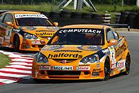 Round 3 of the 2004 British Touring Car Championship. #5. Matt Neal (GBR) & #8. Dan Eaves (GBR). Team Halfords. Honda Integra Type R.