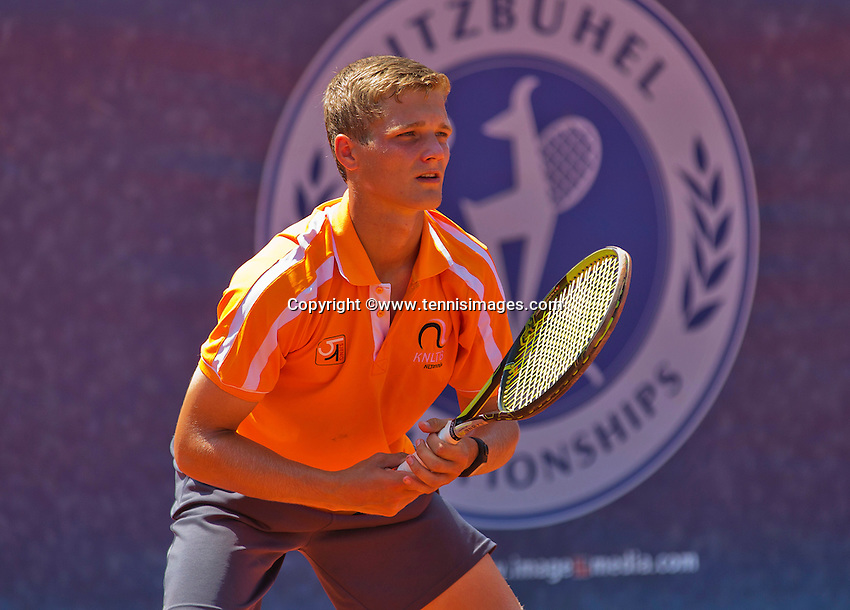 Austria, Kitzbühel, Juli 18, 2015, Tennis,  Junior Davis Cup, ltr: Bart Stevens (NED) <br /> Photo: Tennisimages/Henk Koster