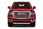 Car photography straight front view of a 2021 GMC Yukon-Denali - 5 Door SUV Front View