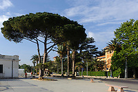 Strand im Seebad Mondello, Sizilien, Italien