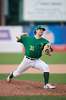 Beloit Snappers starting pitcher Wyatt Marks (31) delivers a pitch during a game against the Dayton Dragons on July 22, 2018 at Pohlman Field in Beloit, Wisconsin.  Dayton defeated Beloit 2-1.  (Mike Janes/Four Seam Images)
