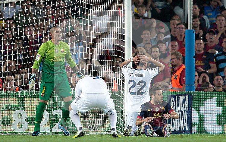 Barcelona's and Real Madrid's during la Liga match on october 7th 2012. ..Photo: Cesar Cebola  / ALFAQUI