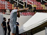 VILLAVICENCIO - COLOMBIA, 06-02-2021: Llaneros F. C. y Boca Juniors de Cali durante partido de la fecha 4 por el Torneo BetPlay DIMAYOR 2021 en el estadio Bello Horizonte de la ciudad de Villavicencio. / Llaneros F. C. and Boca Juniors de Cali during a match of the 4th for the BetPlay DIMAYOR 2021 Tournament at the Bello Horizonte stadium in Villavicencio city. Photo: VizzorImage / Juan Herrera / Cont.
